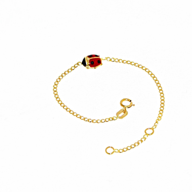 Bracciale da bambino in Oro Giallo con Coccinella Ref. 146465 - BARTOCCINI G