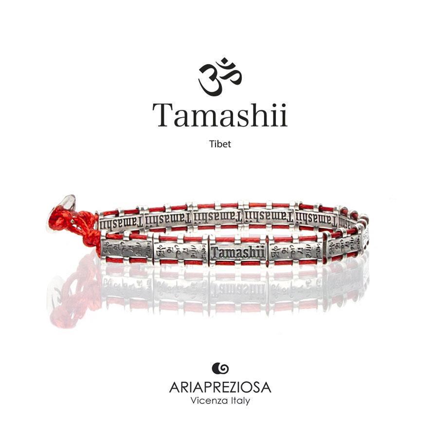 Bracciale Tamashii Bandiere Tibetane medium rosso Ref.BHS924-S6R - TAMASHII