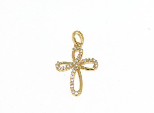 Croce in Oro Giallo e Zirconi Ref. 135517 - BARTOCCINI G