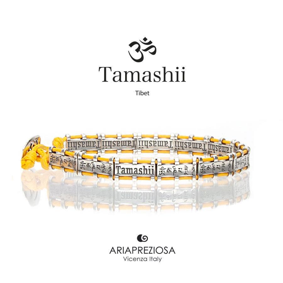 Bracciale Tamashii Bandiere Tibetane medium giallo  Ref.BHS924-S6Y - TAMASHII