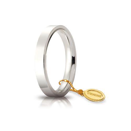 Fede Unoaerre - Fede Cerchio di Luce mm 3,5 Oro Bianco Mis. 15 Ref. 35AFC2-04-15 - UNOAERRE