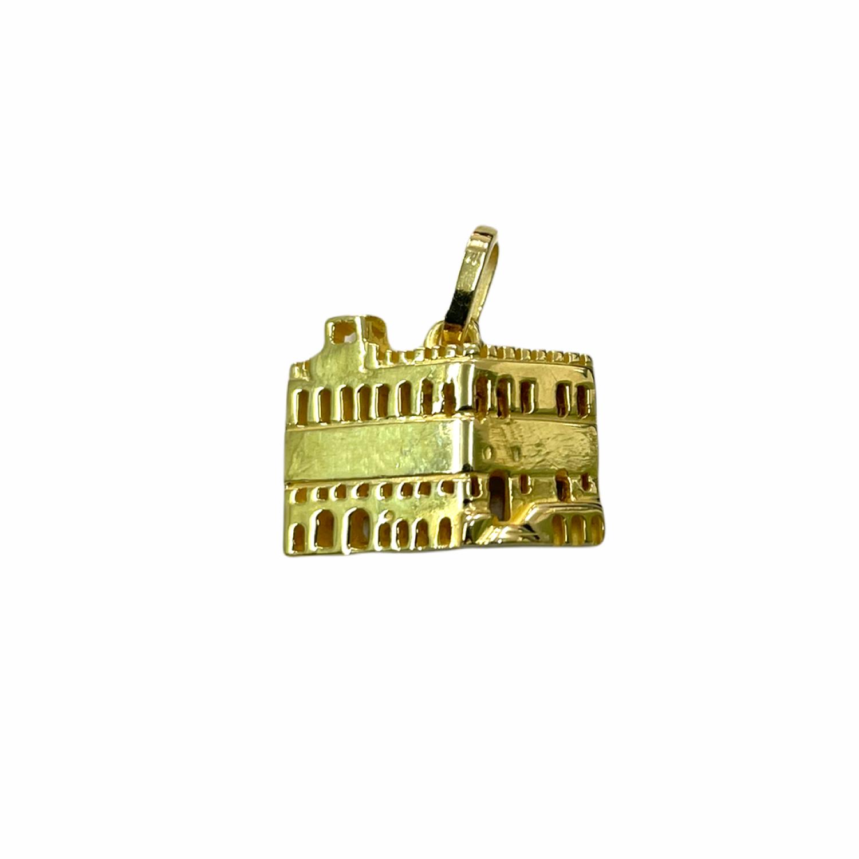 Ciondolo Palazzo dei Priori in Oro 750‰ - Monumenti di Perugia - BARTOCCINI Z