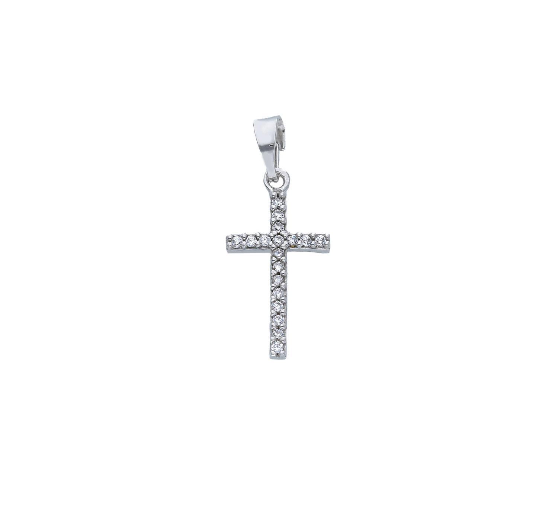 Croce in Oro Bianco e Zirconi Ref. 250144 - BARTOCCINI G