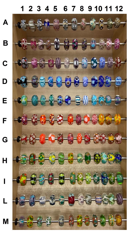 Trollbeads Unico in Vetro - OOAK Original Trollbeads scegli tra 132 pz del SET 4 - TROLLBEADS