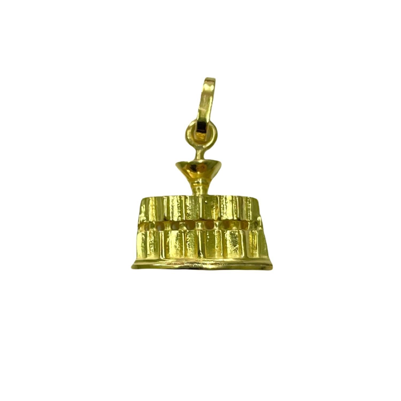 Ciondolo Fontana Maggiore in Oro 750‰ - Monumenti di Perugia - BARTOCCINI Z