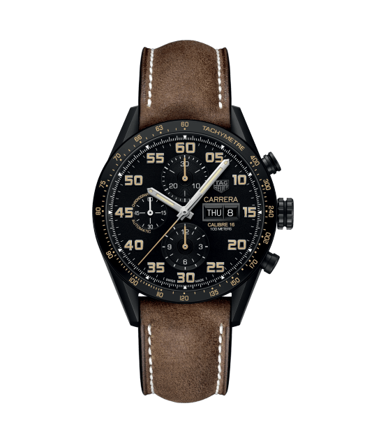 OROLOGIO TAG HEUER - CARRERA CHRONO CAL. 16 DAY DATE 43 mm Ref. CV2A84.FC6394 - TAG HEUER