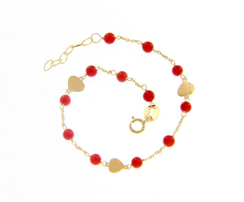 Bracciale da bambino in Oro Giallo con Cuori Ref. 223412 - BARTOCCINI G