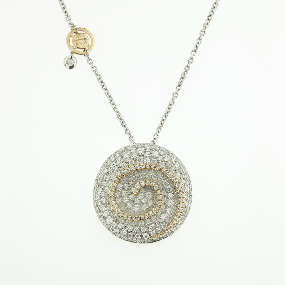 Girocollo con Diamanti bianchi ct. 2,74 Ref. CI120 - PVG