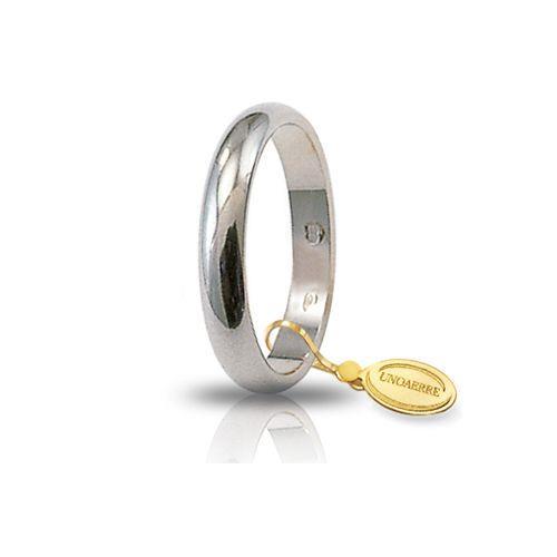 Fede Unoaerre - Fede Classica Oro Bianco gr. 4,00 Misura 21 Ref. 40AFN1-04-21 - UNOAERRE