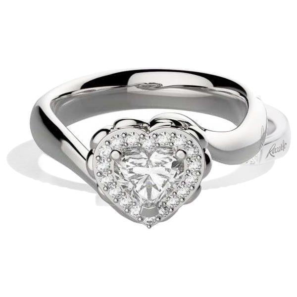 Anello Recarlo - Solitario Valentine contorno con Diamante T. Cuore Modello R67SC002/040 - RECARLO