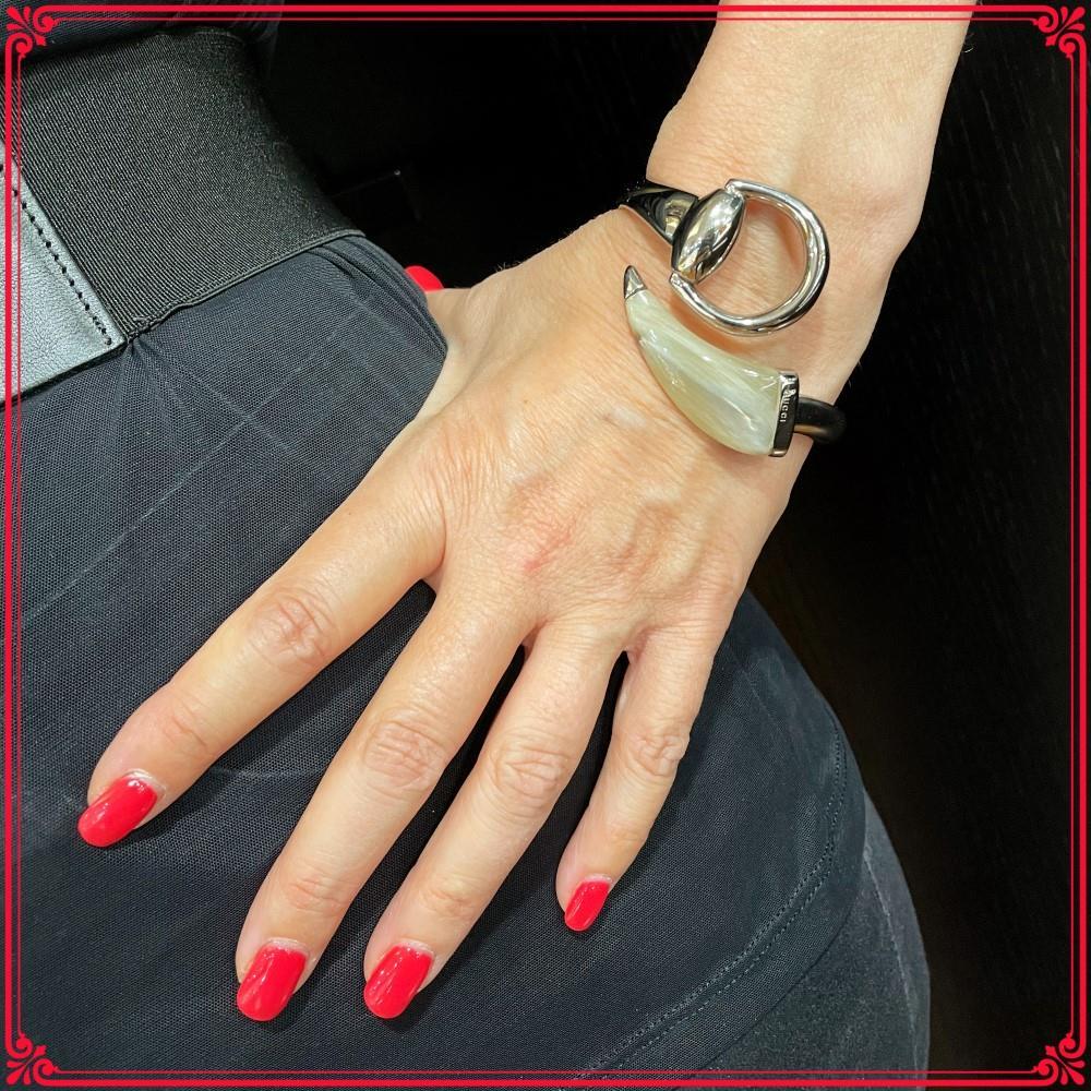 Bracciale Gucci rigido modello Horsebit Ref. YBA283722001017 - GUCCI
