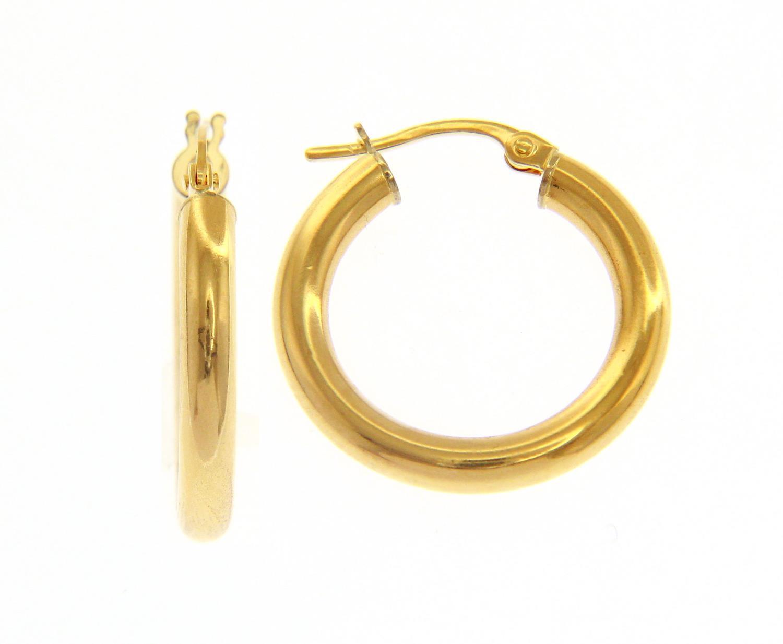 Orecchini cerchio in Oro Giallo cm 1,5 Ref. 158499 - BARTOCCINI G