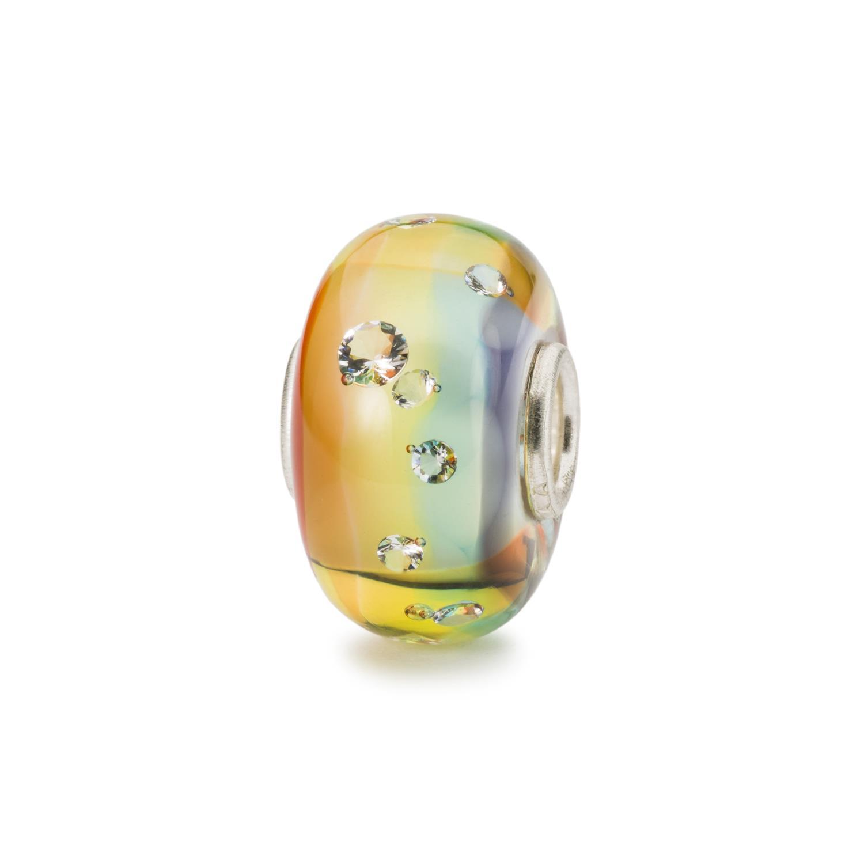 Trollbeads in Vetro - Diamante Arcobaleno Ref. TGLBE-00214 - TROLLBEADS