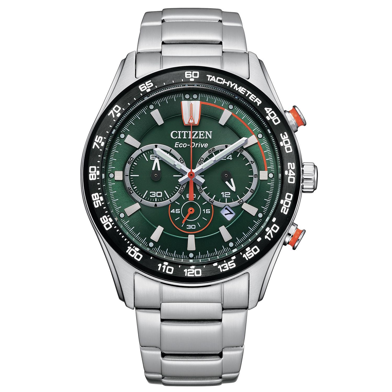 Orologio Citizen Crono Sport quadrante verde Ref. CA4486-82X - CITIZEN