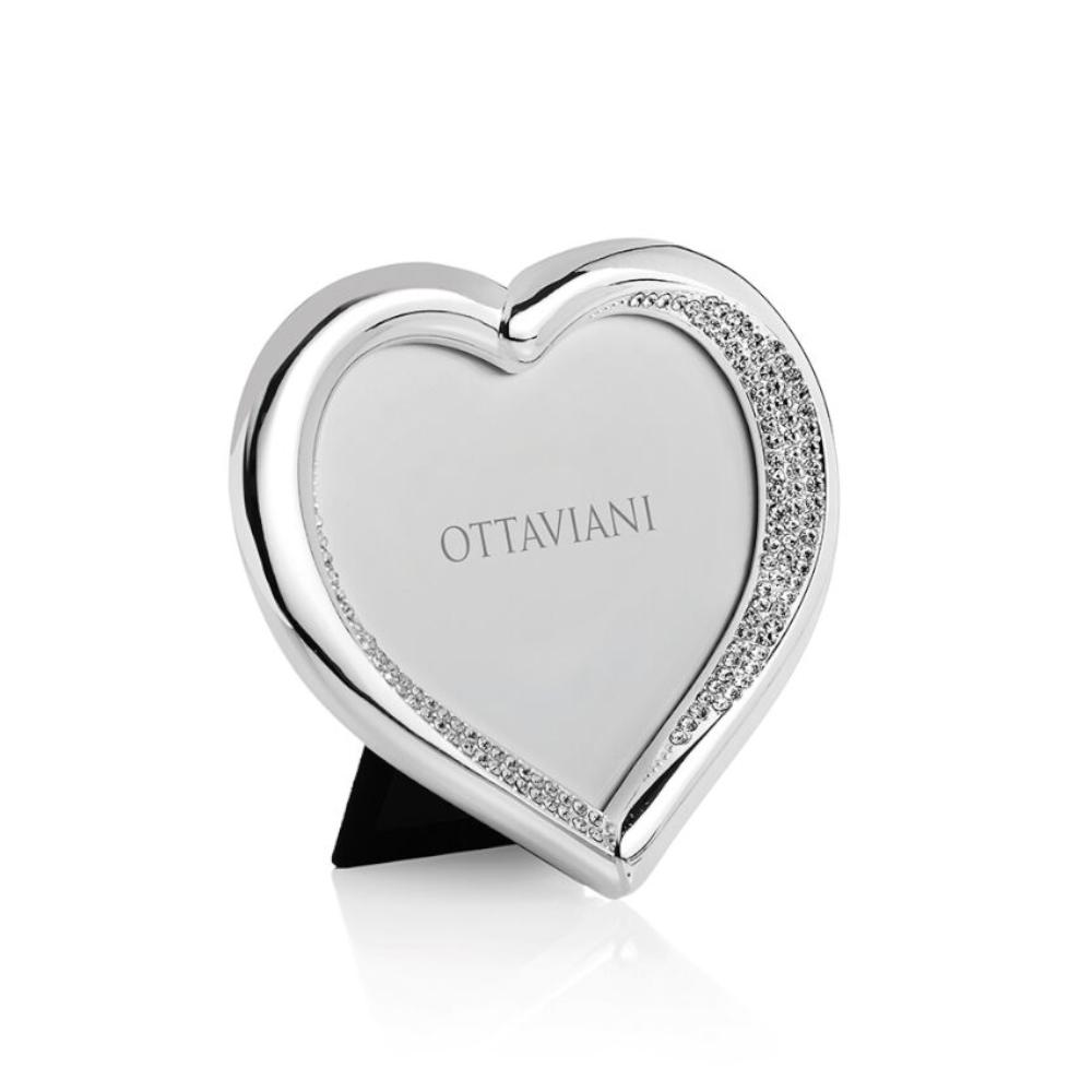 Portafoto Ottaviani - Metallo Argentato con Cristalli Ref. 25022 - OTTAVIANI