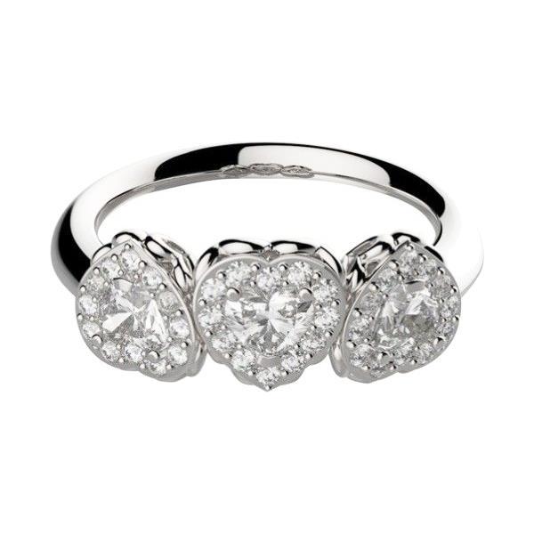 Anello Recarlo - Trilogy contorno con Diamante T. Cuore Modello R67SC002/070 - RECARLO