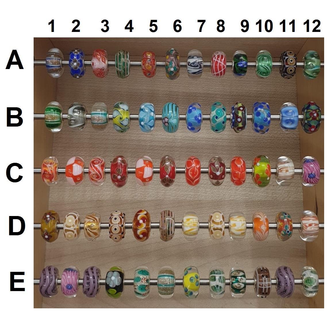 Trollbeads Unico in Vetro - OOAK Original Trollbeads scegli tra 67 pz del SET 5 - TROLLBEADS