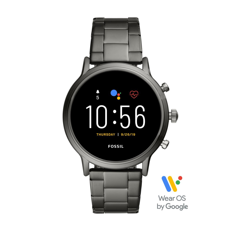 Smartwatch Fossil GEN 5 The Carlyle HR con bracciale in acciaio grigio fumo Ref. FTW4024 - FOSSIL