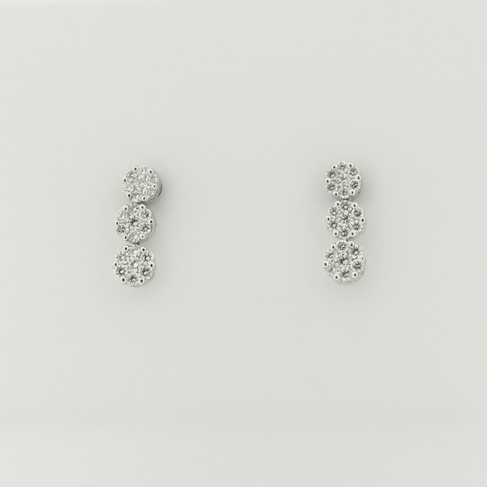Orecchini Visconti con Diamanti Bianchi ct.0,40 Ref. BBX33026 - VISCONTI