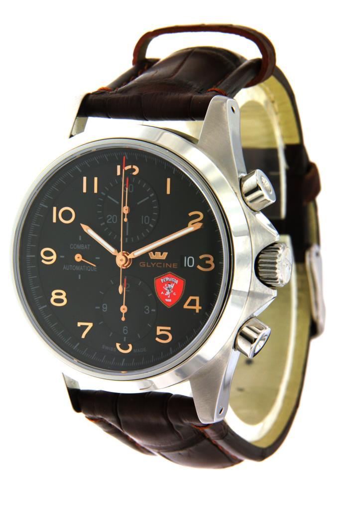 OROLOGIO GLYCINE - Combat chronograph Lux Con LOGO A.C. PERUGIA - GLYCINE