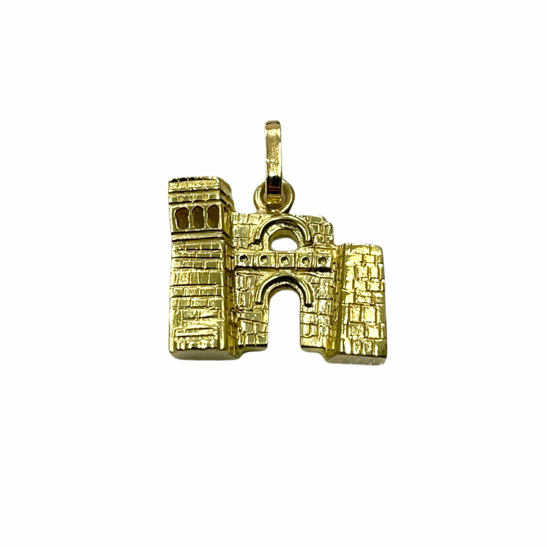 Ciondolo Arco Etrusco in Oro 750‰ - Monumenti di Perugia - BARTOCCINI Z