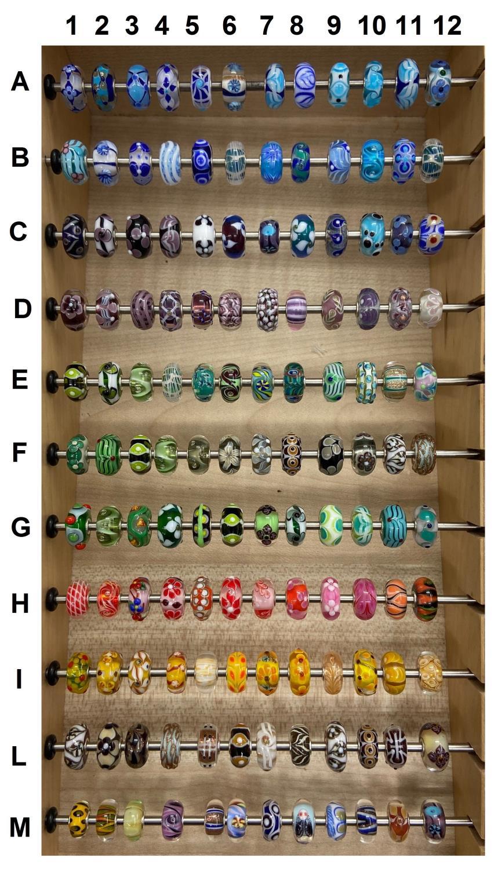 Trollbeads Unico in Vetro - OOAK Original Trollbeads scegli tra 132 pz del SET 3 - TROLLBEADS