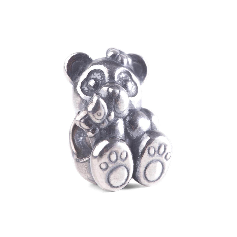 Thun By Trollbeads - Bead in Argento Panda con Farfalla  Ref. TAGBE-30163 - TROLLBEADS
