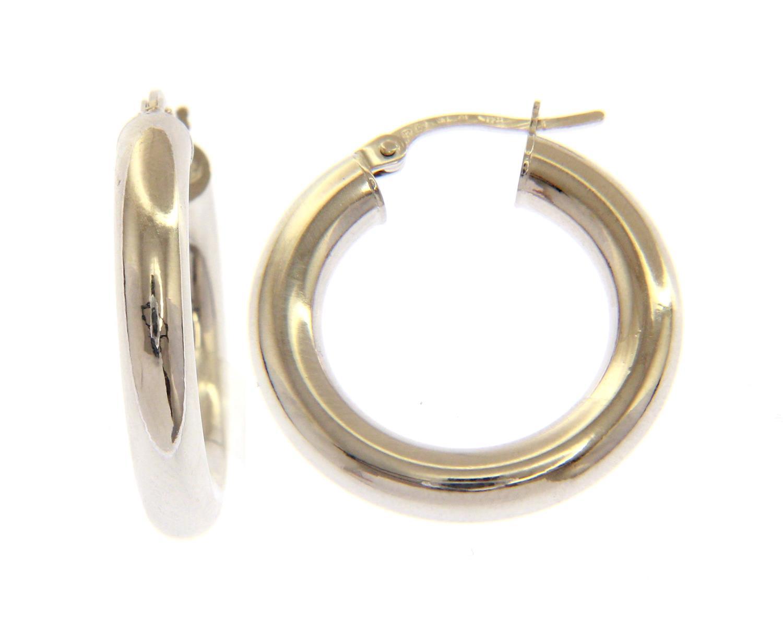 Orecchini cerchio in Oro Bianco cm 1,5 Ref. 152998 - BARTOCCINI G