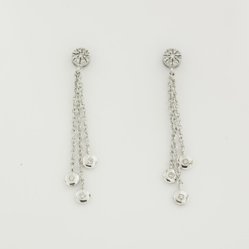 Orecchini con Diamanti Bianchi ct. 0,23 Ref. CH029 - FIDELA