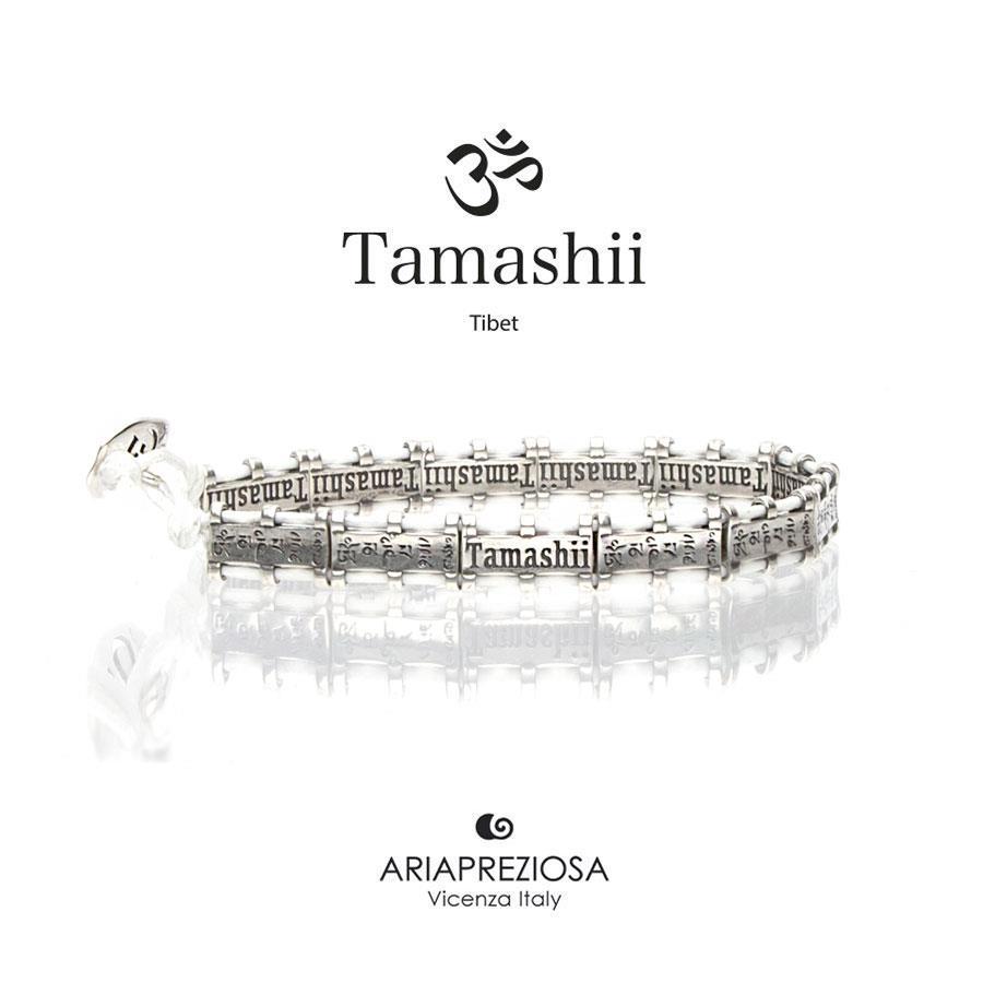 Bracciale Tamashii Bandiere Tibetane medium bianco Ref.BHS924-S6W - TAMASHII