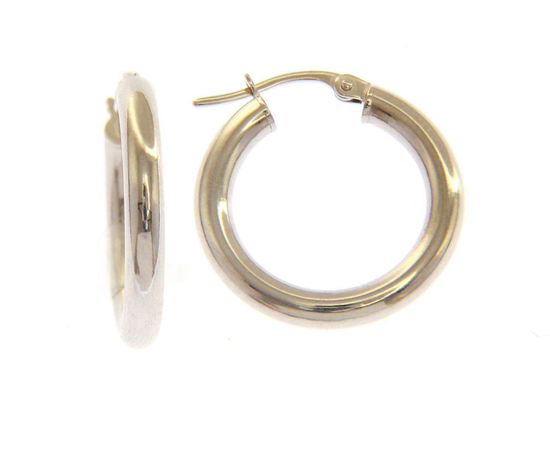 Orecchini cerchio in Oro Bianco cm 1,5 Ref. 147495 - BARTOCCINI G