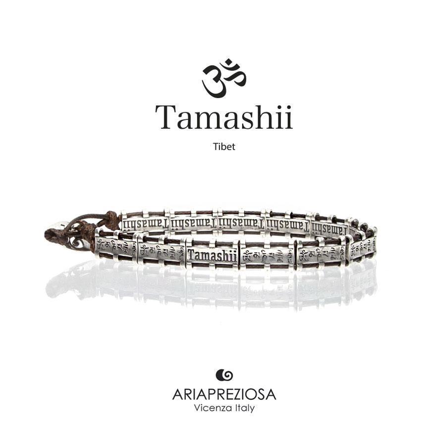 Bracciale Tamashii Bandiere Tibetane medium marrone Ref.BHS924-S6 - TAMASHII