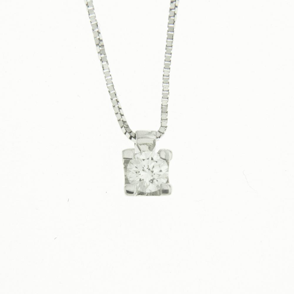 Girocollo Punto Luce con Diamanti Bianchi ct. 0,09 Ref. IR899 - FIDELA