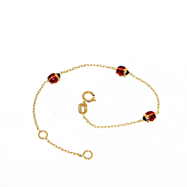 Bracciale da bambino in Oro Giallo con Coccinelle Ref. 146469 - BARTOCCINI G